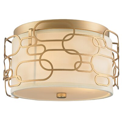 Lilianna 3-Light Flush Mount Fixture Finish: Matte Gold