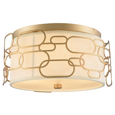 Lilianna 5-Light Flush Mount Fixture Finish: Matte Gold
