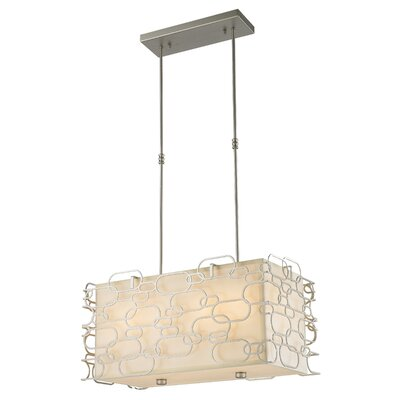 Lilianna Linen/Metal 8-Light Kitchen Island Pendant Finish: Matte Nickel
