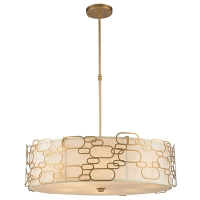 Lilianna 12-Light Drum Pendant Finish: Matte Gold