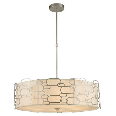 Lilianna 12-Light Drum Pendant Finish: Matte Nickel
