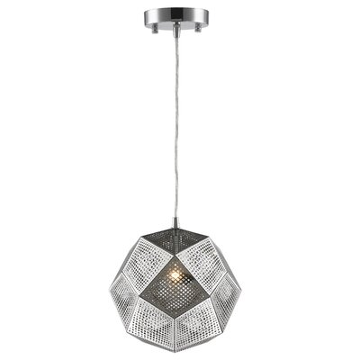 Skopelos Modern 1-Light Geometric Pendant Finish: Chrome, Size: 60 H x 12 W x 12 D