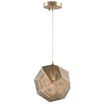 Skopelos Modern 1-Light Geometric Pendant Finish: Champagne Gold, Size: 60 H x 12 W x 12 D