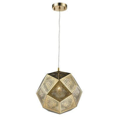 Skopelos Modern 1-Light Geometric Pendant Finish: Rose Gold, Size: 58 H x 10 W x 10 D