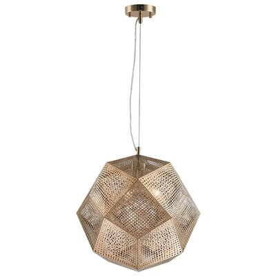 Skopelos Modern 3-Light Geometric Pendant Finish: Champagne Gold