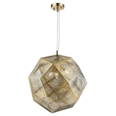 Skopelos Modern 3-Light Geometric Pendant Finish: Rose Gold