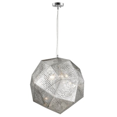 Skopelos Stainless Steel 5-Light Geometric Pendant Finish: Chrome