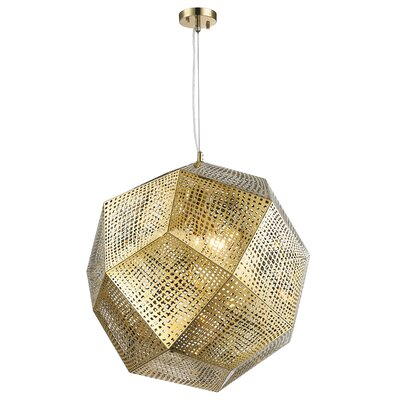 Skopelos Stainless Steel 5-Light Geometric Pendant Finish: Champagne Gold
