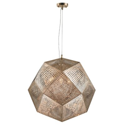 Skopelos Stainless Steel 5-Light Geometric Pendant Finish: Rose Gold