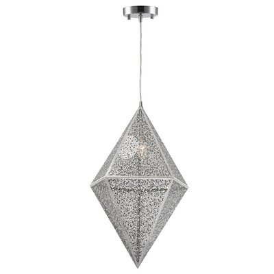 Skopelos Modern 1-Light Geometric Pendant Finish: Chrome