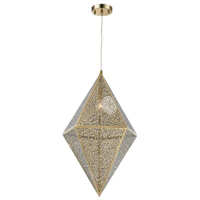 Skopelos Modern 1-Light Geometric Pendant Finish: Champagne Gold