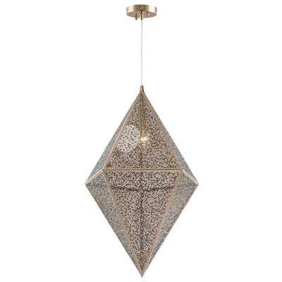 Skopelos Modern 1-Light Geometric Pendant Finish: Rose GOld