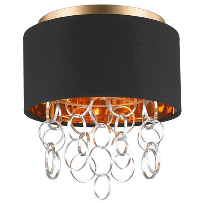 Aryanna 3-Light Flush Mount Fixture Finish: Matte Gold