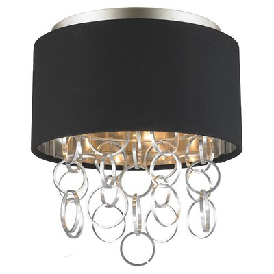 Aryanna 3-Light Flush Mount Fixture Finish: Matte Nickel