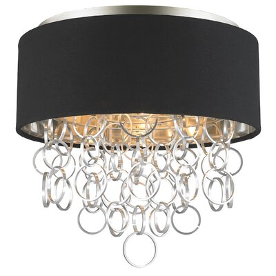 Aryanna Linen 4-Light Flush Mount Fixture Finish: Matte Nickel