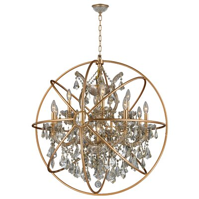 Briarcliffe 13-Light Crystal Chandelier Finish: Matte Gold