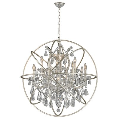 Briarcliffe 13-Light Crystal Chandelier Finish: Matte Nickel