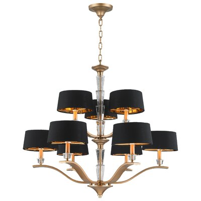 Jaylynn 9-Light Drum Chandelier Finish: Matte Gold
