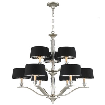 Jaylynn 9-Light Drum Chandelier Finish: Matte Nickel