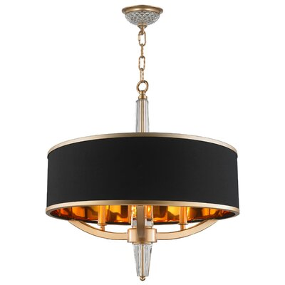 Jaylynn 3-Light Drum Chandelier Finish: Matte Gold