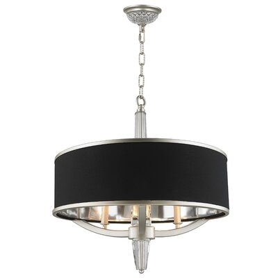 Jaylynn 3-Light Drum Chandelier Finish: Matte Nickel