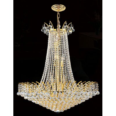 Empire 16-Light Empire Chandelier Finish: Gold