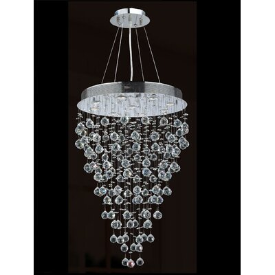 Icicle 9-Light Crystal Chandelier Diameter: 24
