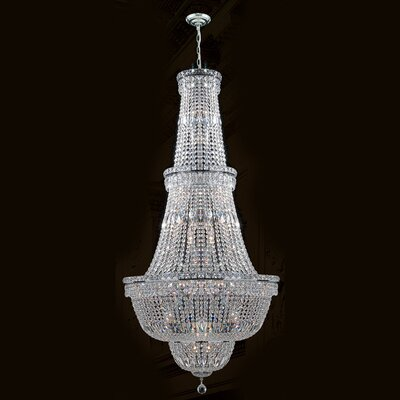 Empire 34-Light Crystal Chandelier Finish: Chrome
