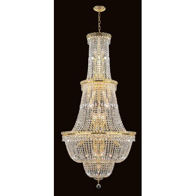 Empire 34-Light Crystal Chandelier Finish: Gold