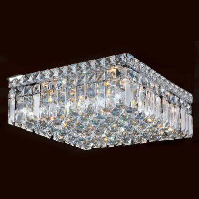 Anjali Polished Chrome 5-Light Flush Mount