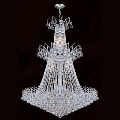 Empire 18-Light Crystal Chandelier Finish: Chrome