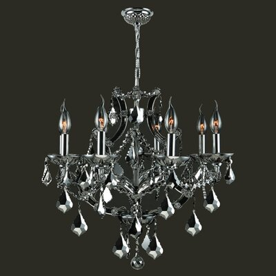 Lyre 8-Light Crystal Chandelier Crystal Color: Chrome