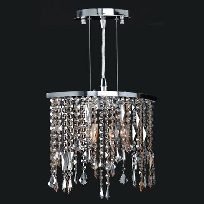 Leist 2-Light Crystal Chandelier Crystal Color: Multi-Color