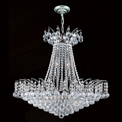 Empire 11-Light Empire Chandelier Finish: Chrome