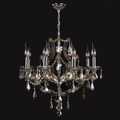 Zhora 8-Light Crystal Chandelier Crystal Color: Golden Teak