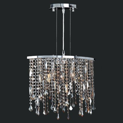 Leist 3-Light Kitchen Island Pendant Crystal: Multi-Color