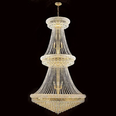 Empire 38-Light Crystal Chandelier Finish: Gold