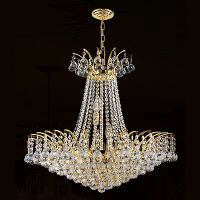 Carson 11-Light Empire Chandelier Finish: Gold