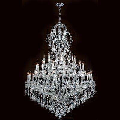 Maria Theresa 48-Light Crystal Chandelier Finish: Chrome