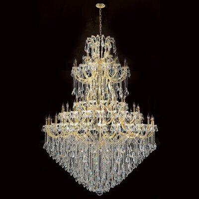 Maria Theresa 84-Light Crystal Chandelier Finish: Gold