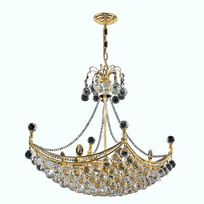Carson 8-Light Crystal Chandelier Finish: Gold