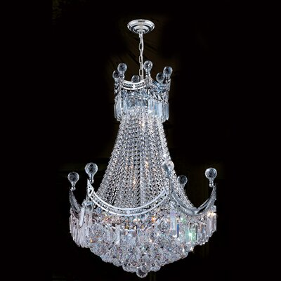 Empire 9-Light Empire Chandelier Finish: Chrome