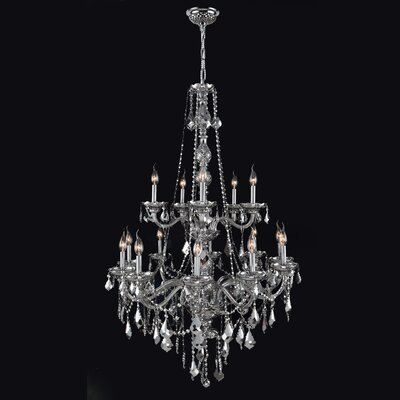 Doggett 15-Light Chain Crystal Chandelier