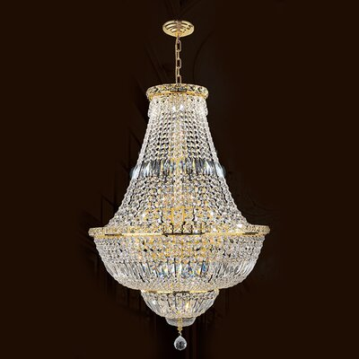Carson 15-Light 40W Empire Chandelier Finish: Gold