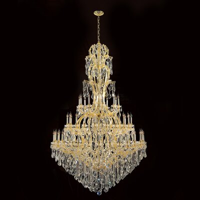 Maria Theresa 60-Light Crystal Chandelier Finish: Gold