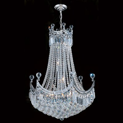 Carson 18-Light 40W Empire Chandelier Finish: Chrome