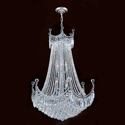 Carson 15-Light Empire Chandelier Finish: Chrome