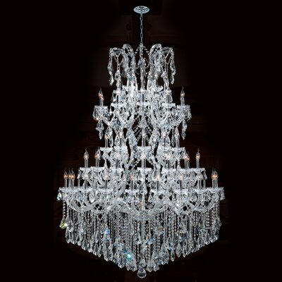 Kiazolu 61-Light Crystal Chandelier Finish: Chrome