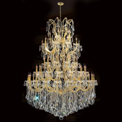 Maria Theresa 61-Light Crystal Chandelier Finish: Gold