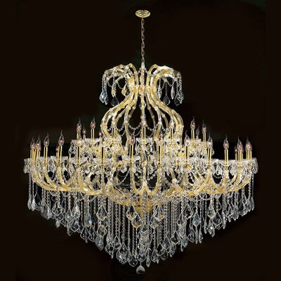 Kiazolu 49-Light Crystal Chandelier Finish: Gold